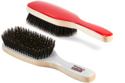 Torino Pro #220 Boar Bristle Paddle Hair Brush - Easy 360 Waves - (Medium) Natural Extra Long Boar Bristles-Naturally Moisturise, Condition, Reduce Frizz, Exfoliate,Promote Circulation - 8 rows