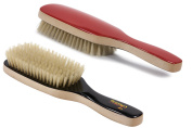 Torino Pro #260 Boar Bristle Paddle Hair Brush - Easy 360 Waves - (Medium) Natural Boar Bristles- Naturally Moisturise, Condition, Reduce Frizz, Exfoliate,Promote Circulation of Hair Roots 7 rows