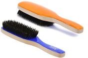 Torino Pro # 290 Boar Bristle Paddle Hair Brush - Easy 360 Waves - (Medium) Natural Boar Bristles- Naturally Moisturise, Condition, Reduce Frizz, Exfoliate,Promote Circulation - 7 rows