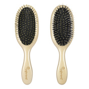 SUPRENT GEMINI Detangler Hair Brush for Hair Detangling and Styling with Mixed teeth of Nylon and Boar Bristle for Wet and Dry Hair