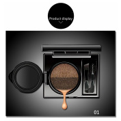 2 Colours Waterproof Air Cushion Eyebrow Cream Powder Eyebrow Makeup Eyebrow powder with duo 2 end eyebrow Brushes