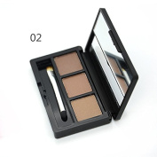 Tanali 3 Colour Eyebrow Powder Makeup Palette Kit with Mirror Eyebrow Brush Set
