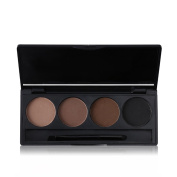 Tanali 4 Colour Professional Eyebrow Powder Brow Powder Makeup Tint Palette Kit with Brush