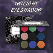 9 Colours twlight bold glitter shimmer matte skull eyeshadow eye shadow
