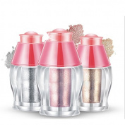 3 Bottle Set Shimmer Powder Glitter Highlighter, Face Shimmer Pear Powder Highlighter, EyeShadow Shimmer Powder Enhancer