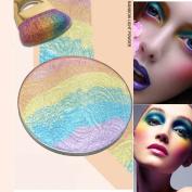 Colourful Rainbow Shimmer Highlighter Powder Blusher Eyeshadow Palette Eye Shadow palette