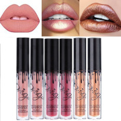 Coosa 6PCS Collection of 3 Colours Madly MATTE Lip Gloss Bold & Vivid Colour Matte Lipgloss