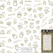 Catwalk Premium Peel-N-Stick Holographic Nail Stickers