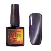 Arte Clavo Magnetic Cat Eye Lacquer Soak Off UV Led Varnish Gel Nail Polish Light Purple Silver Thread 6015