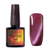 Arte Clavo Magnetic Cat Eye Lacquer Soak Off UV Led Varnish Gel Nail Polish Red Purple Colour Silver Thread 10ml 6004