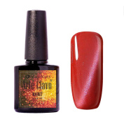Arte Clavo Magnetic Cat Eye Lacquer Soak Off UV Led Varnish Gel Nail Polish Red Colour Silver Thread 6010