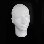 MSmask Male Mannequin Heads Hairdressing Male Mannequin Salon Doll Foam Manikin Head Model Glasses Display Stand