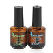 Mild East Nail Polish Primer Base Gel Top Coat Soak Off UV Gel Manicure Set