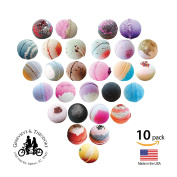 TEN PACK BUBBLING Bath Bomb Gift Set - 150ml Bath Bubbling Bath Bombs/ASSORTED Best Sellers/ Spa Time in your Tub