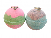 Ring Bath Bomb SET OF TWO/ Watermelon & Blackberry Extra Large Bath Bombs 240ml Each/