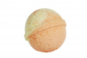 Mandarin & Lime Bath Bomb (130ml) - Handmade in USA - Ultra Lush Essential Oil - Organic, Vegan & Gluten Free - Fizzy & Colourful - Multi-Sensory Aromatherapy - Relaxation