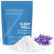 New SLEEP WELL Magnesium Chloride Flakes – Absorbs . Epsom Salt - Unique & Natural Full Bath Soak Formula for Insomnia Relief & Healthy Sleep - With USDA Organic Cedarwood & Lavender Oils