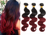 YAMI Ombre 2 Tone Brazilian Hair Body Wave Ombre Brazilian Hair Weave Bundles 1B BUG T Hair Products 7A Ombre Virgin Hair 300g red 1B 99J¡­