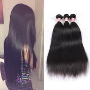 Beauty Princess Burmese Virgin Hair Straight 3pcs With Closure, Unprocessed Human Hair Weave 3 Bundles Burmese Straight Virgin Hair With Free Part Closure Natural Colour.
