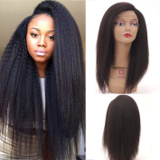 Freya Hair Pre Plucked 360 Wigs Human Hair Side Part 150Density Bleached Knots Italian Yaki Wig Natural Colour