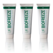 Biofreeze Pain Relief Gel for Arthritis, 120ml Tubes, Pack of 3, Cooling Topical Analgesic, Fast Acting Cold Pain Reliever for Muscle, Joint, & Back Pain, Works Like Pain Relief Cream, Original Green
