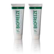 Biofreeze Pain Relief Gel for Arthritis, 120ml Cold Topical Analgesic, Fast Acting Cooling Pain Reliever for Muscle, Joint, & Back Pain, Works Similar to Ice Pack, Original Green Formula, Pack of 2