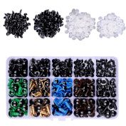 364 Pieces Colourful Plastic Safety Eyes Craft Eyes and Safety Noses 364 Pieces Washers for Doll, Puppet, Plush Animal Making