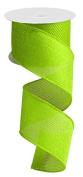 Lime Green Cross Royal Burlap Wired Edge Ribbon - 6.4cm x 10 yards