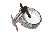 12 Silver Rhinestone Stretch Band Corsage Wristlet Formal Prom Favours