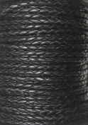 3mm - Round - Bolo (Braided) Leather Laces Available in 1 Yard, 2 Yards, 5 Yard, 10 Yards & 25 Yards -Packing (2 Yards, Black