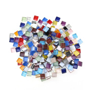 ULTNICE 10mm Small Mosaic Tiles for Crafts Mixed Crystal Mosaic Supplies