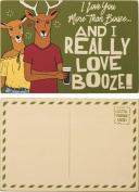 """Love You More Than Booze"" Wood Postcard - Set Of 3"