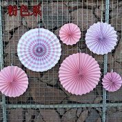 Zorpia 6 Pcs - Bright Colour Decorative Tissue Paper Hanging Fans - Wedding Supplies Decorations Birthday Parties and Baby Showers Decorations