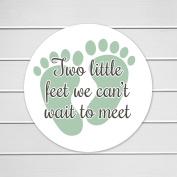 100cm - 5.1cm Two Little Feet We Can't Wait to Meet It's a Girl, It's a Boy, Baby Shower Stickers