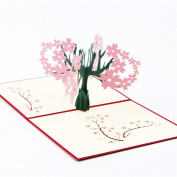Vovotrade 3D Pop Up Cards Valentine Lover Happy Birthday Anniversary Greeting Cards