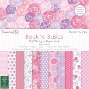 Dovecraft Back to Basics Perfectly Pink - Card Craft Paper Pad 20cm x 20cm