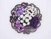 100 Pcs Mini Rose Mix Dark Sweet Purple Shade 10 mm Mulberry Paper Flowers Scrapbooking Wedding Decoration