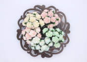 100 Pcs Mini Rose Mix Soft Pastel Shade 10 mm Mulberry Paper Flowers Scrapbooking Wedding Decoration