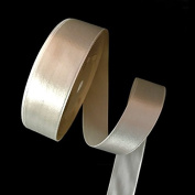 2.5cm Single Face Satin Ribbon Price Per Roll/25 Yards in White Available in 14 Colours
