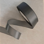 2.5cm Single Face Satin Ribbon Price Per Roll/25 Yards in Silver Grey Available in 14 Colours