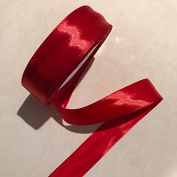 2.5cm Single Face Satin Ribbon Price Per Roll/25 Yards in Red Available in 14 Colours