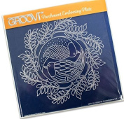Groovi Parchment Embossing Plate Christmas Doves A5 - Laser Etched Acrylic for Parchment Craft