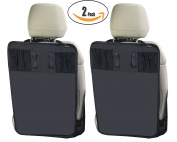 New! 2 Pack Kick Mats Waterproof Car Seat Back Protector with Storage Organiser Pocket –Universal Fit –by Termichy