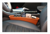Car Seat Gap Filler Box Pocket Organiser PU Leather Storage Bag