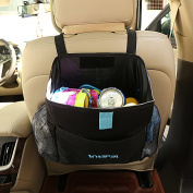 IntiPal Car Garbage Bag - Car Seat Back Organiser - Waterproof Car Trash Bin for Storage or Rubbish Collection