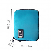 Leoy88 USB Flash Drives Case Organiser Bag Digital Storage Pouch Data Earphone Cable