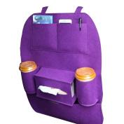 Car Backseat Organiser, Hang Rui Multi-pocket Storage Bag, Back Seat Protector for Kids Children