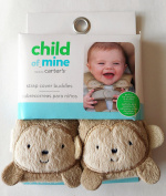 Carters Light Brown Taupe MONKEY strap cover buddies