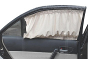 Car Window Curtain - Sandistore 2X Car Sun Shade Side nylon Mesh Window Curtain Foldable Sunshade UV Protection