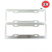 Car Window Curtain - Sandistore 2 Pcs Aluminium Alloy Licence Plate Frames Tag Cover Screw Caps